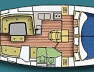 План на яхтата